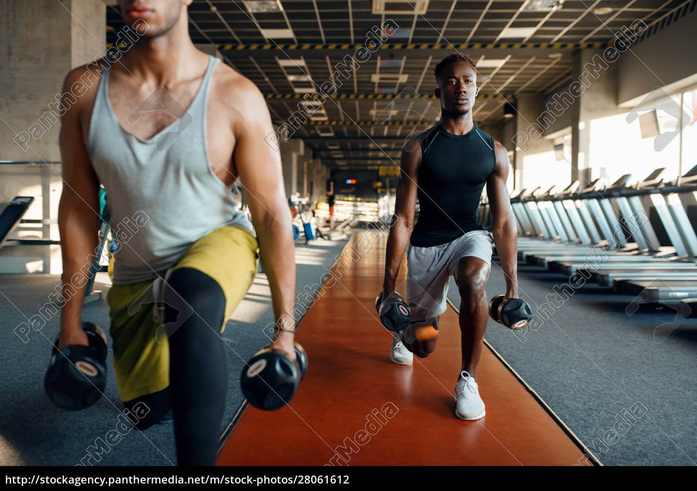 two, male, persons, doing, exercise, with - 28061612