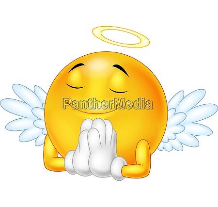 angel, emoticon, isolated, on, white, background - 28062122