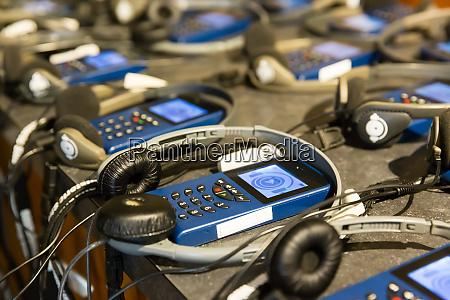 audio, guide, with, headphones. - 28062104