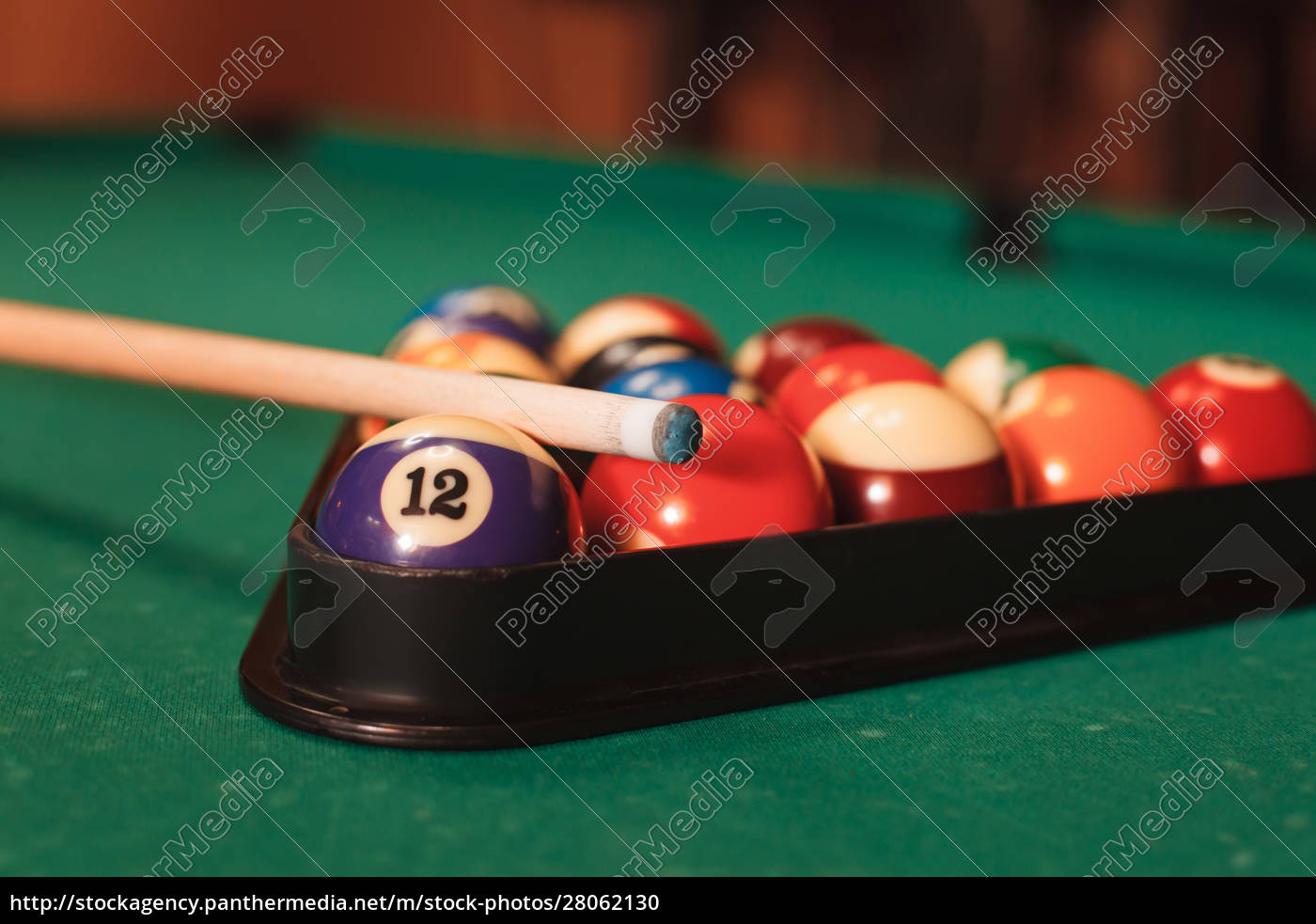 billiard, balls, near, by, cue, and - 28062130