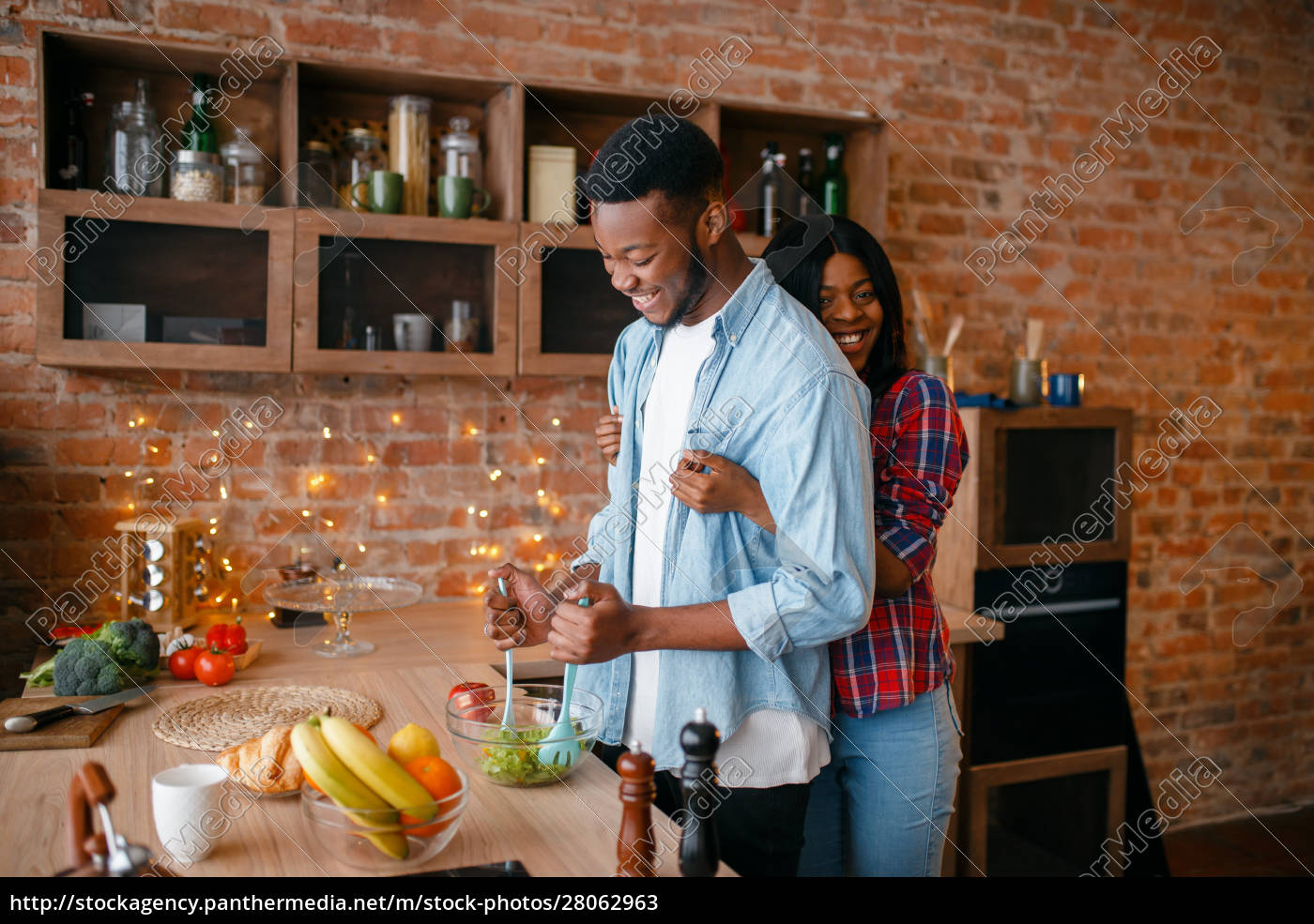 black, man, cooking, breakfast, on, the - 28062963