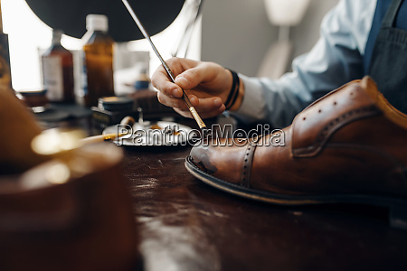 bootmaker, with, brush, tints, shoes, , footwear - 28062717