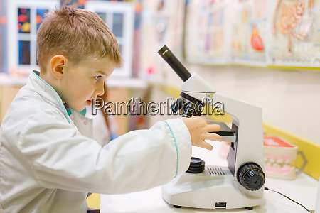 boy, at, the, microscope, playing, doctor, - 28062186