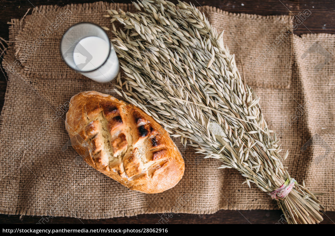 bread, , wheat, and, glass, of, milk, - 28062916