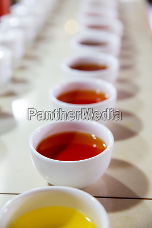 ceylon, tea, degustation, cups, closeup, view - 28062046