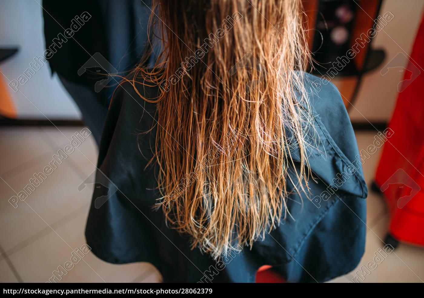 female, customer, with, wet, hair, , hairdressing - 28062379