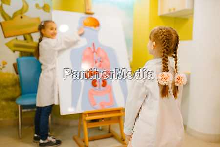 girls, playing, doctor, at, poster, with - 28062216