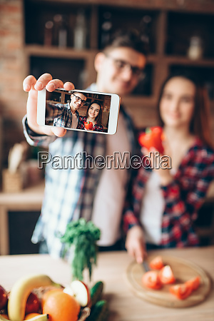 husband, and, wife, makes, selfie, on - 28062054