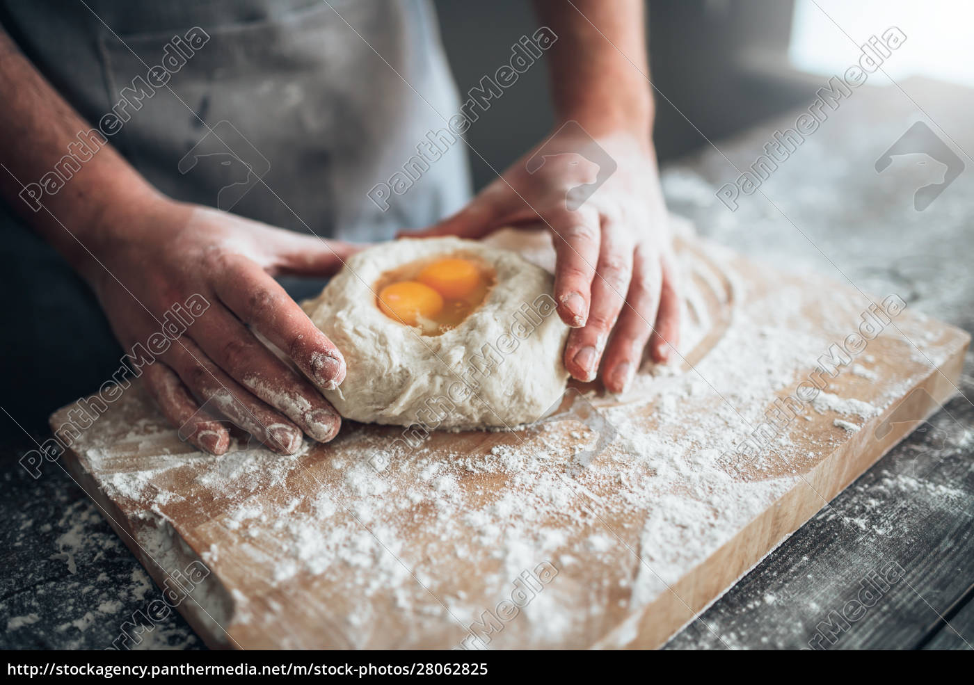 male, baker, hands, mix, the, dough - 28062825