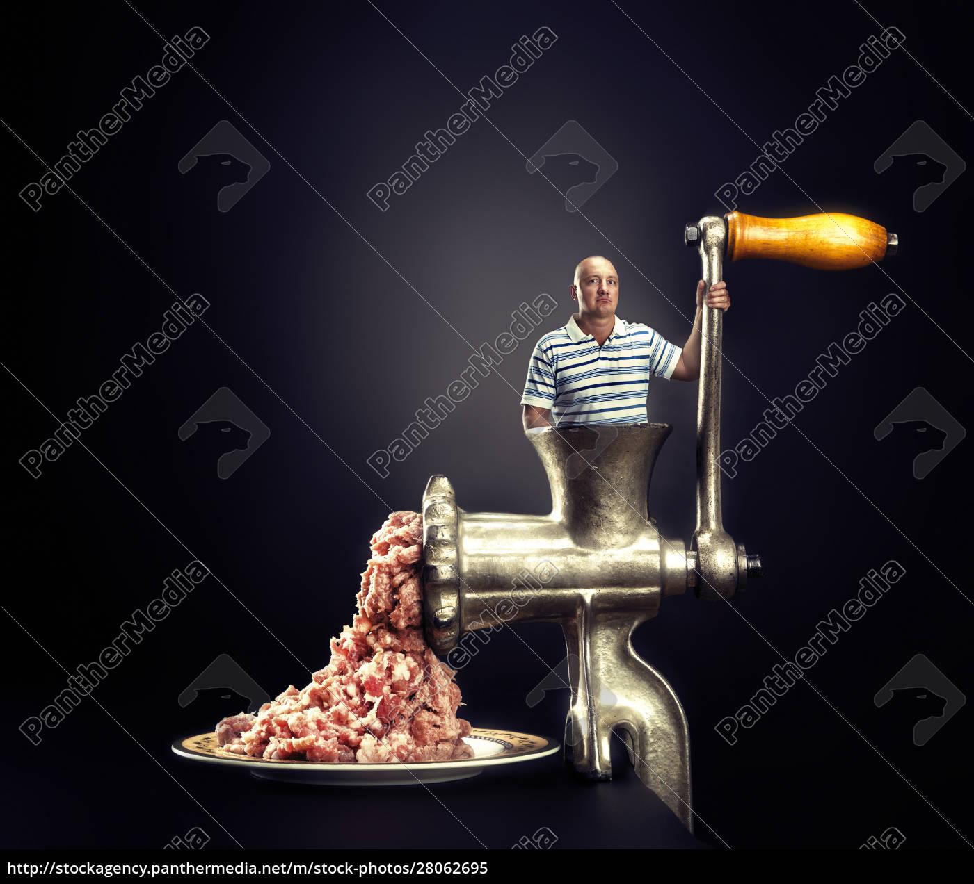 meat, grinder, on, a, black, background - 28062695