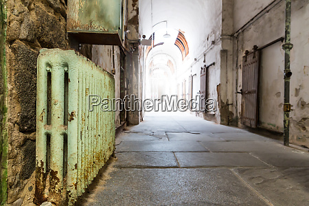 old, prison, hallway. - 28062482