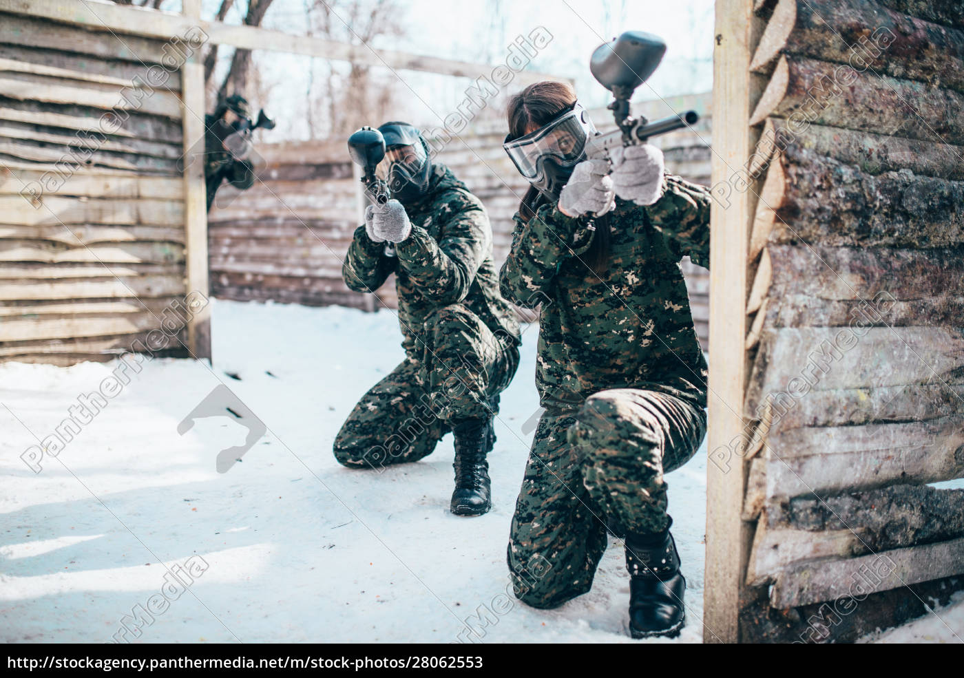 paintball, team, , players, in, winter, battle - 28062553