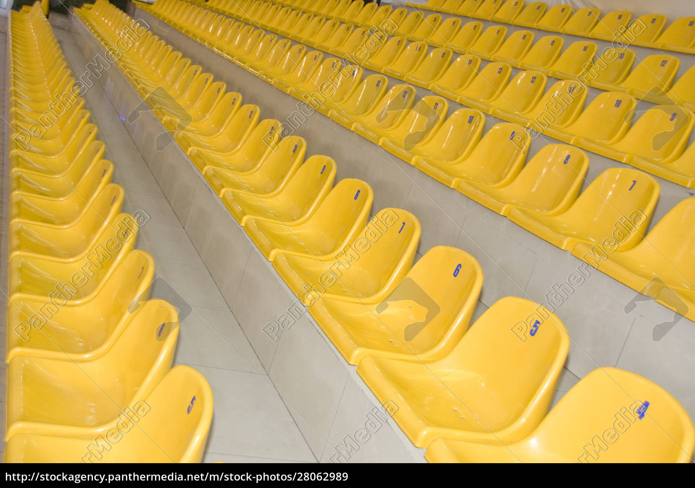 rows, of, yellow, seats - 28062989