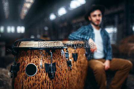 wooden, drums, , closeup, , male, drummer, on - 28062899