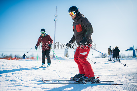 beginners learn to ski winter active