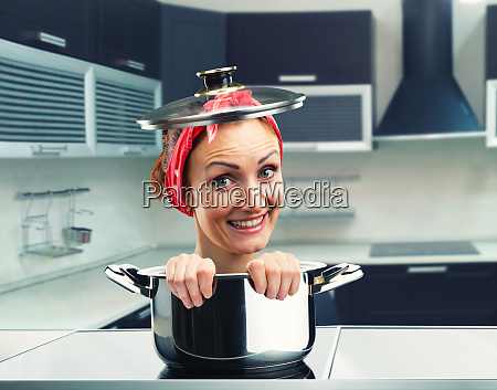 smiling housewife