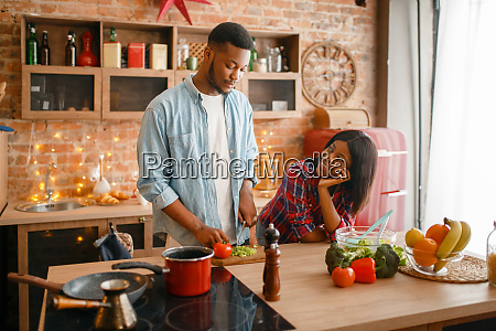 black, love, couple, cooking, romantic, dinner - 28063094