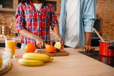 black, love, couple, cooking, romantic, dinner - 28063225