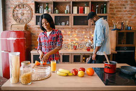 black, love, couple, cooking, romantic, dinner - 28063251