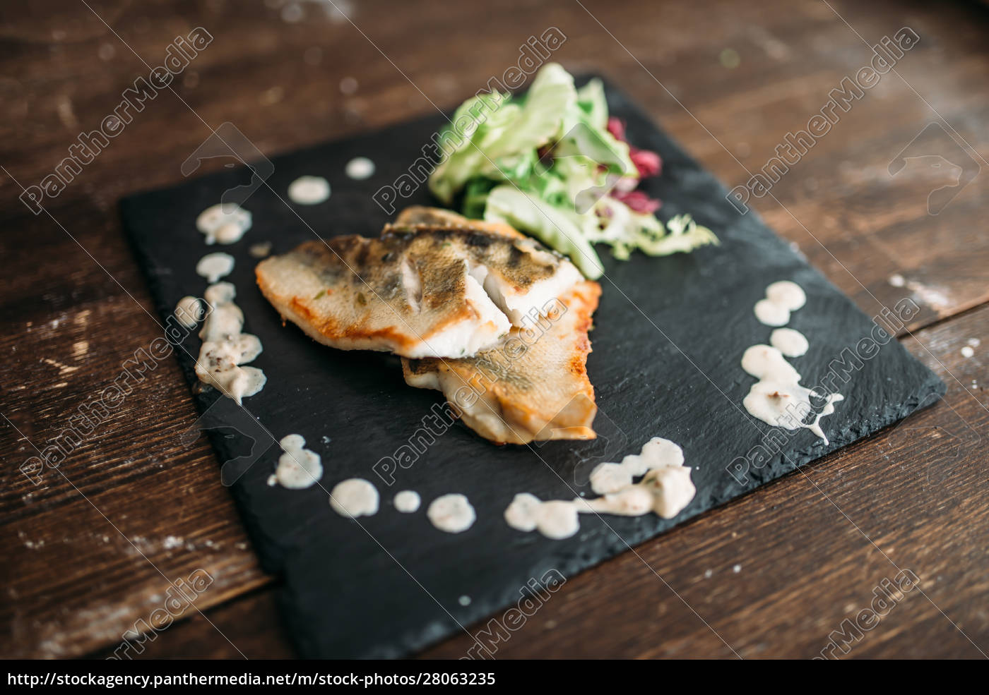 dish, of, fried, fish, decorated, with - 28063235