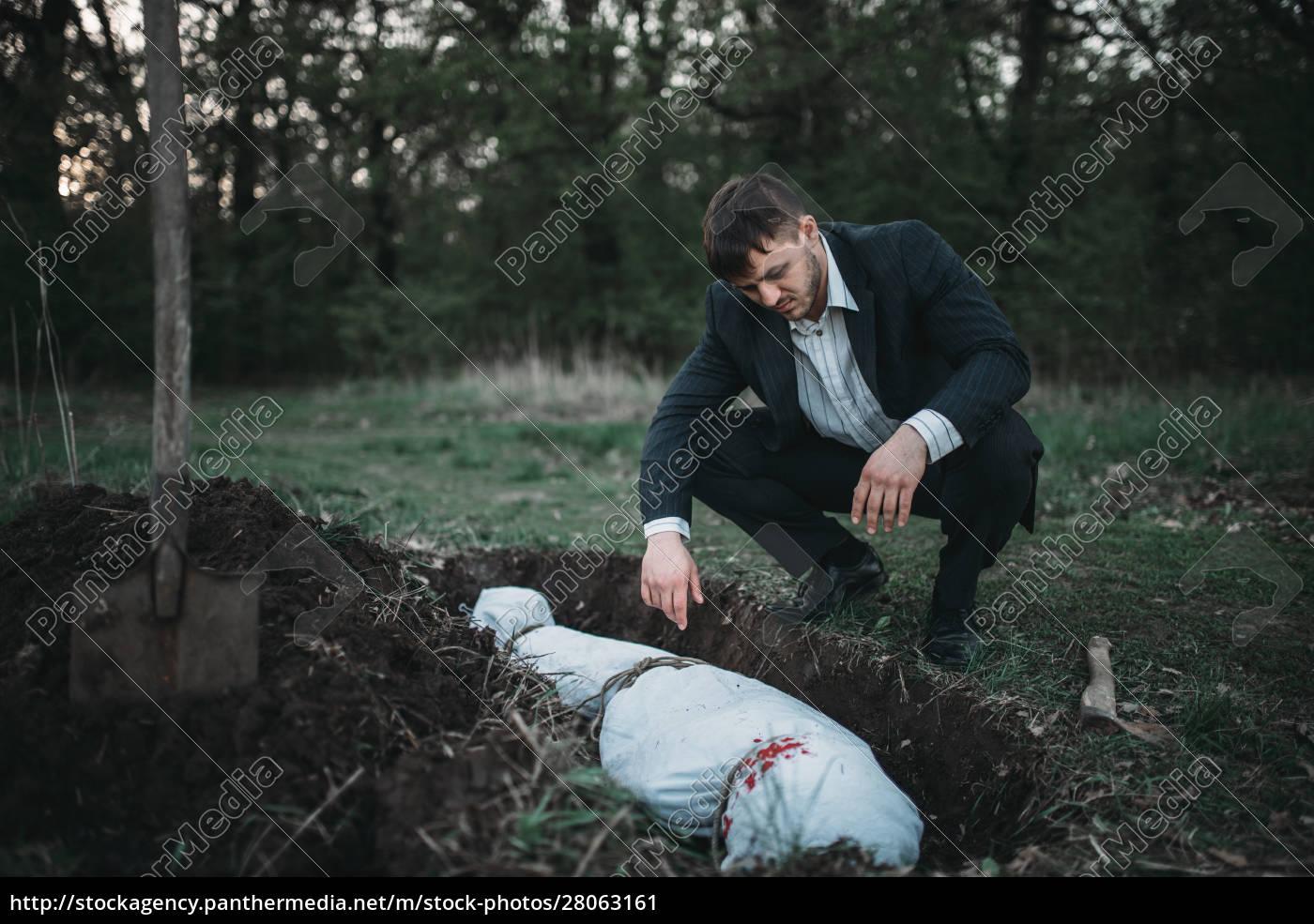 maniac, against, grave, , serial, murderer, concept - 28063161