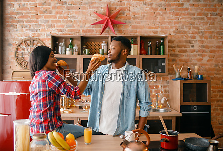 playful, black, couple, having, fun, on - 28063194