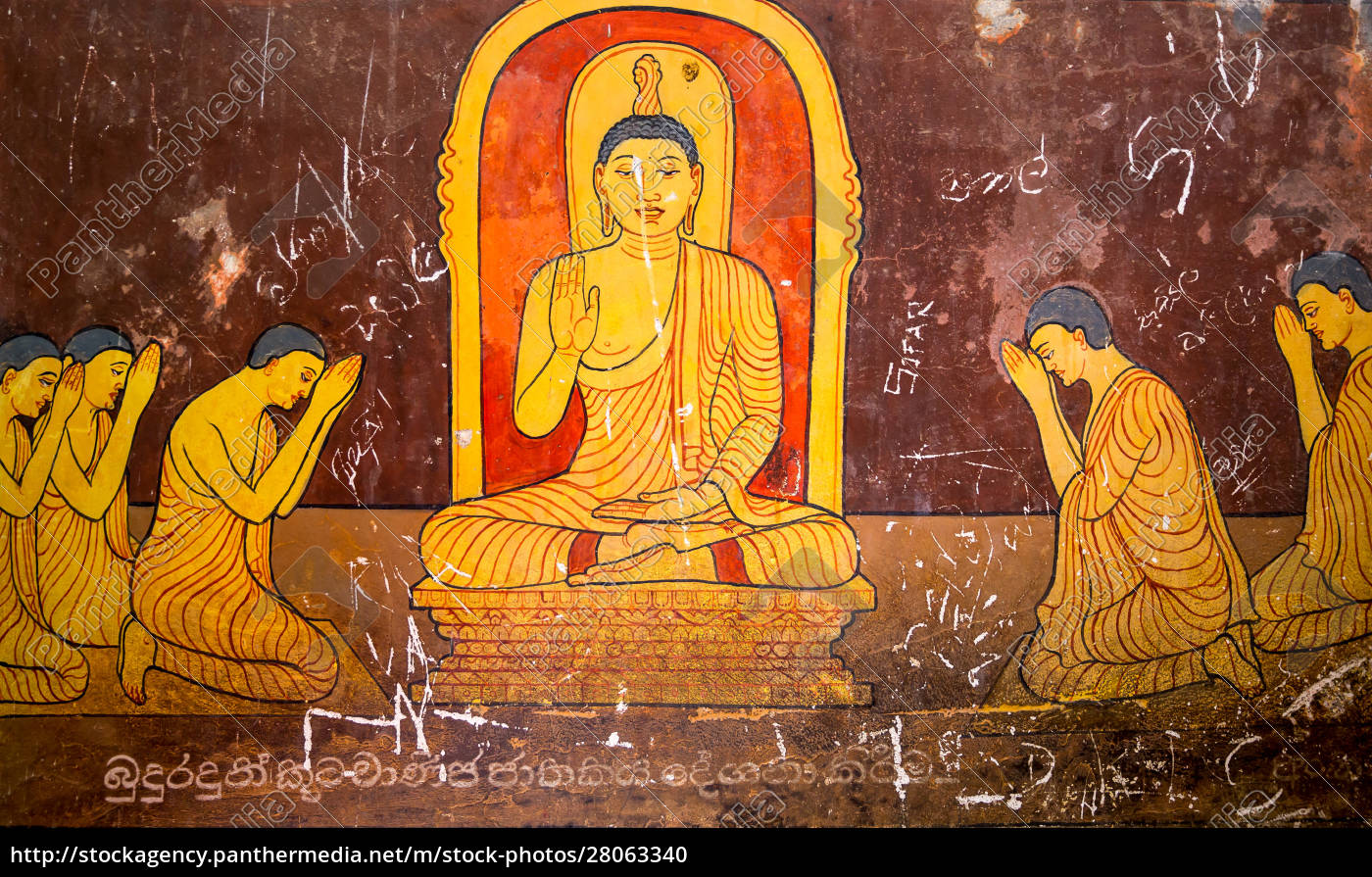 sri, lanka, , old, buddha, temple, , tourism - 28063340