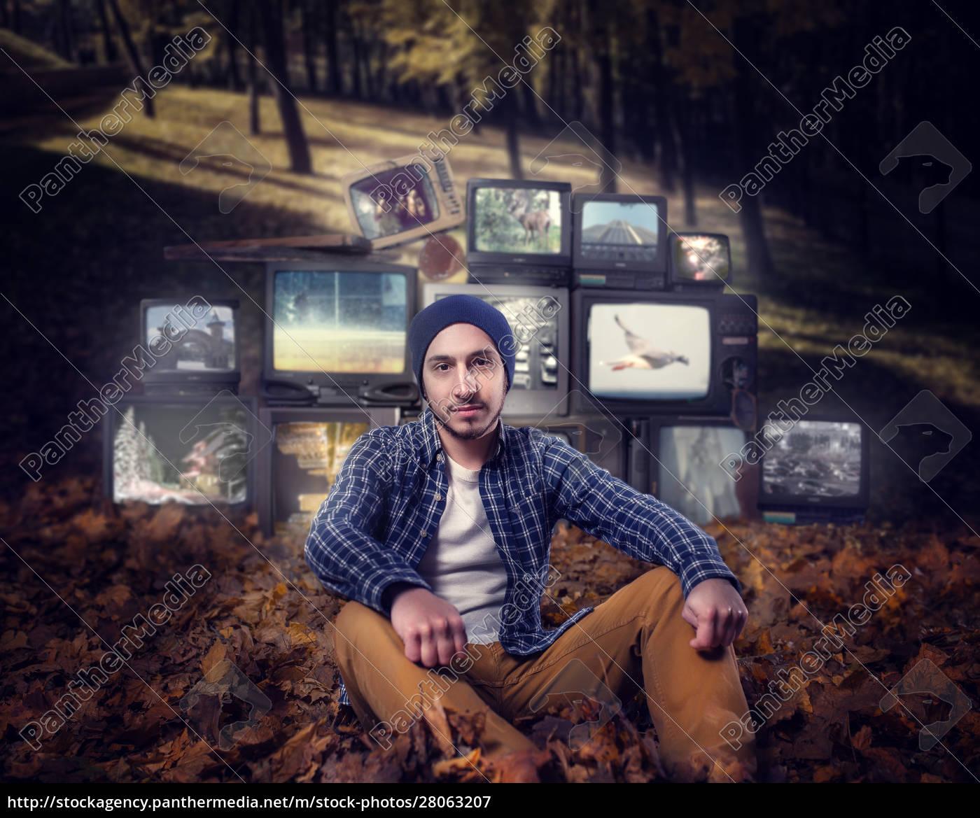 stalker, , mountain, of, old, tvs, on - 28063207