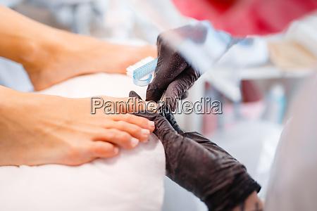 beautician salon pedicure clean procedure