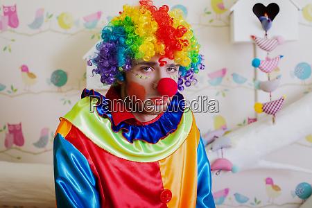 upset lonely clown