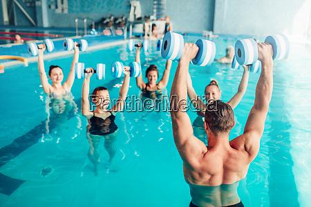 aqua aerobics healthy lifestyle water sport