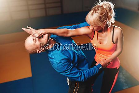 women self defense technique martial art