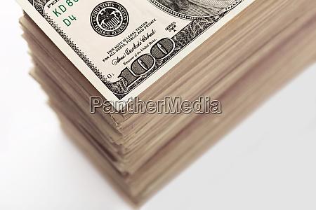 crop of dollar banknotes