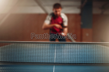 table tennis net selective focus