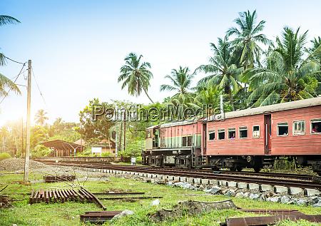 train station locomotive railway road sri