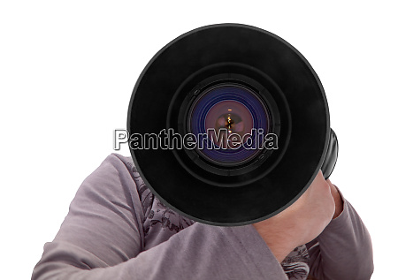 photographer with big lens