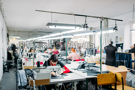 workshop production of clothing sewing machine