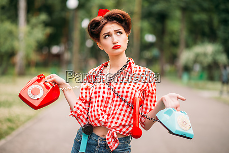 glamour pin up girl with retro