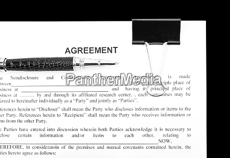 agreement and black pen