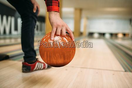 bowler makes throw closeup view on