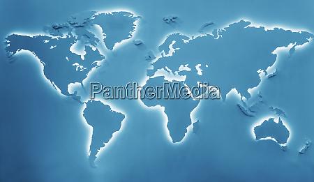 illuminated earth map