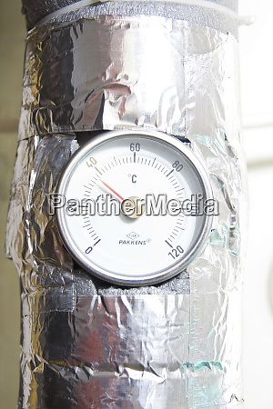 industrial water temperature meter with pipe