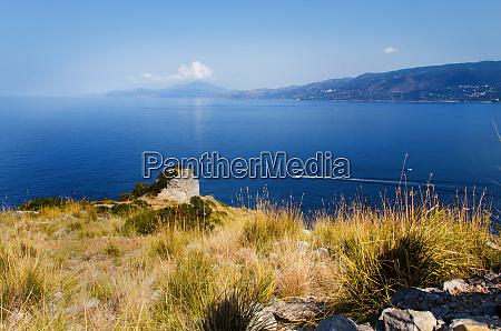 panoramic view near palinuro in campania