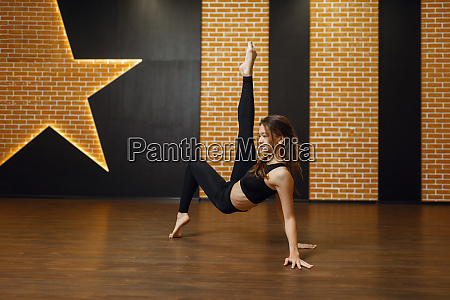 contemporary dance performer woman in studio