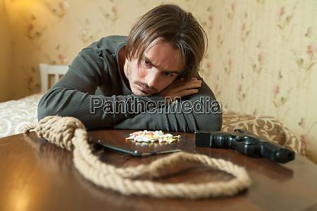 desperate man choose commit suicide method