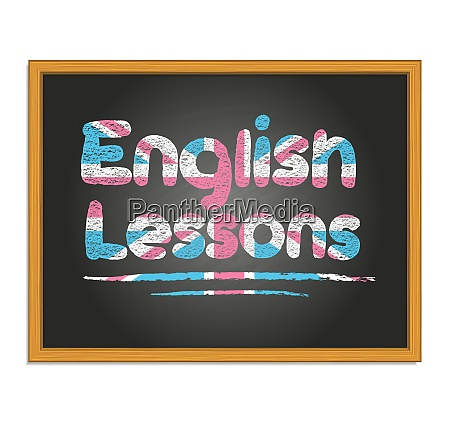 english lessons chalk lettering on black