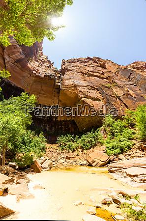 virgin nature paniramic view of zion