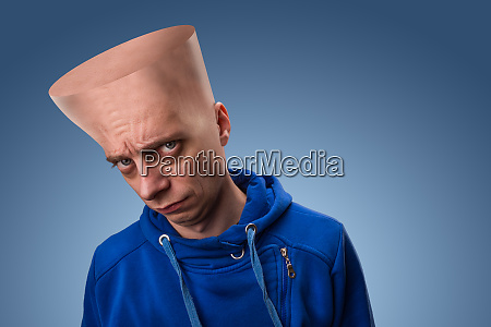 strange man with big head