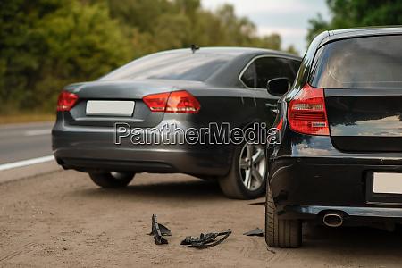 car accident on road automobile crash