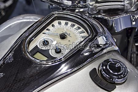 retro motorcycle speedometer